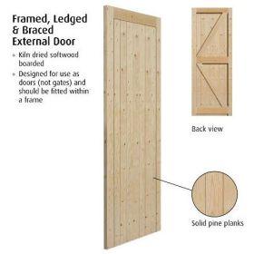 "(2'0"") 610x1981mm Frame Ledged & Braced External Gate"
