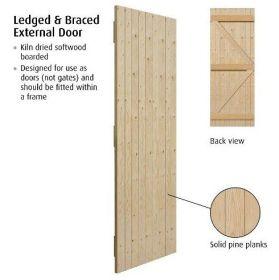 "(2'3"") 686x1981mm Ledged & Braced External Redwood Gate"