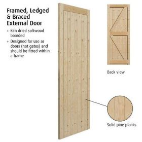 "(2'6"") 762x1981mm Frame Ledged & Braced External Gate"