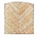 1.8mtr x 1.8mtr Elite St Lunairs Dome Top Fence Panel ELITEPL