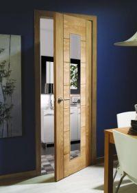 1981x762x44mm Oak Palermo 1 light clear glazed Internal FD30 Fire Door - GOPAL1L30-FD