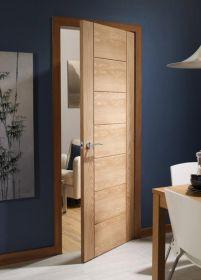 533x1981x35mm Oak Palermo Internal Door - INTOPAL21