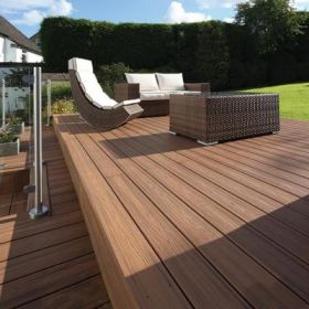 25x140mm Trex Transcend Decking board grooved for secret fixing (3.66 & 4.88m) Tiki Torch