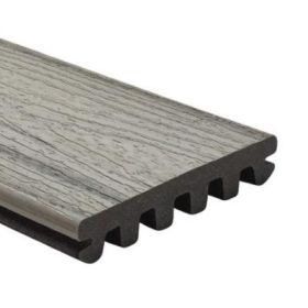 25x140mm Trex Enhance Naturals Decking board grooved for secret fixing (3.66 & 4.88m) Foggy Wharf